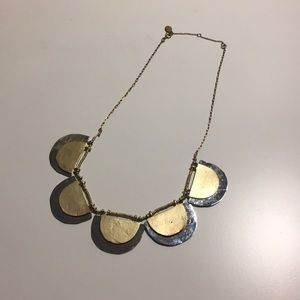 The Loft Silver and Gold Scallop Necklace